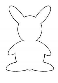 Раскраски вырезания заяц контур, животные для вырезания из бумаги