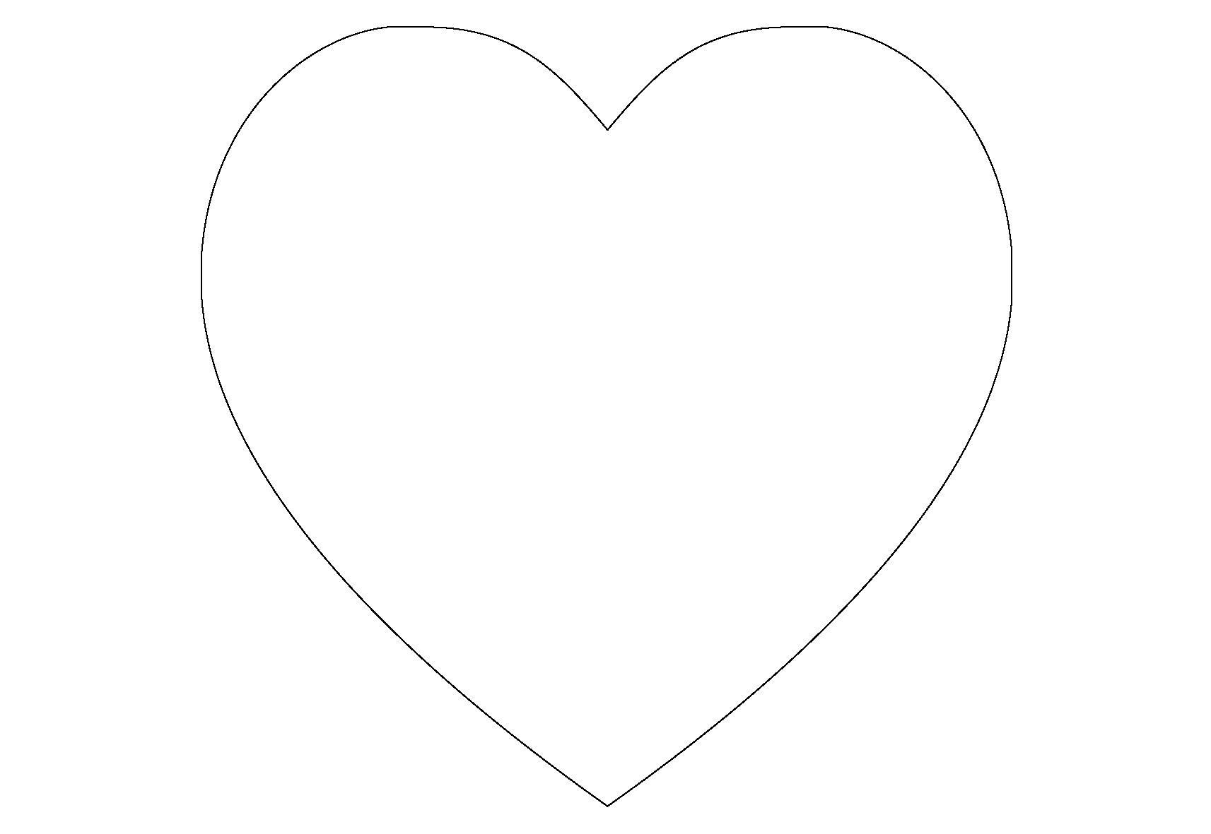 Для скачивания раскраска сердце