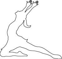 Раскраски контуры балерина трафарет для вырезания из бумаги