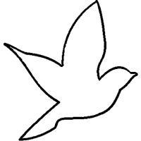 Раскраски контуры птица трафарет для вырезания из бумаги