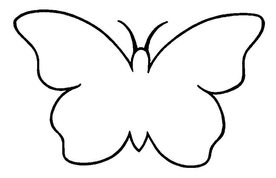 Раскраски бабочки бабочка контур для вырезки из бумаги