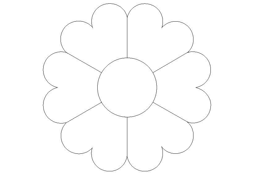 Для скачивания раскраска цветок