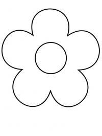 Простой контур цветы самым маленьким