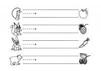 Раскраска нарисовать дорожки для животных