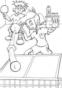Раскраски игры настольный теннис раскраска, спортивные игры