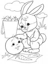 Раскраски заец заец и колобок, колобок, колобочный заец