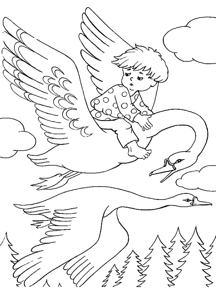 Раскраски для детей сказки