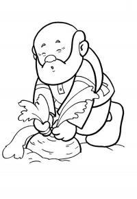 Раскраски сказкам дед тянет репку