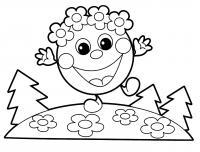 Раскраски сказкам колобок,позитивный колобок, позитив, улыбка колобка, колбок с позитивом