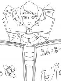 Раскраски сказкам принцесса с учебником по химии