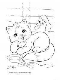 Раскраски репка кошка и мышка