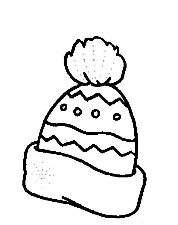 Зимняя шапка раскраска