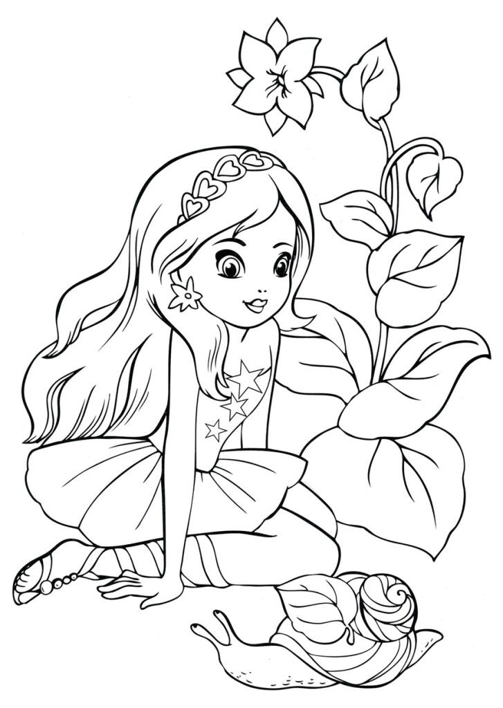 Раскраски для малышей скачать бесплатно, распечатать Принцесса