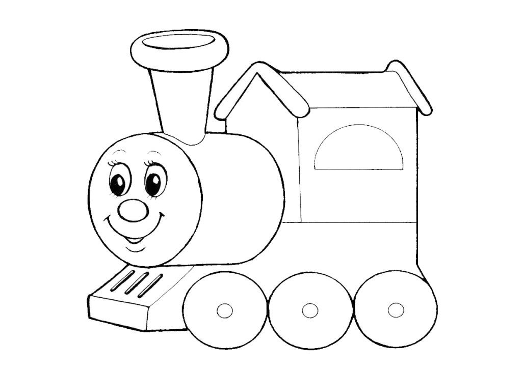 раскраска для малышей скачать бесплатно распечатать паровоз
