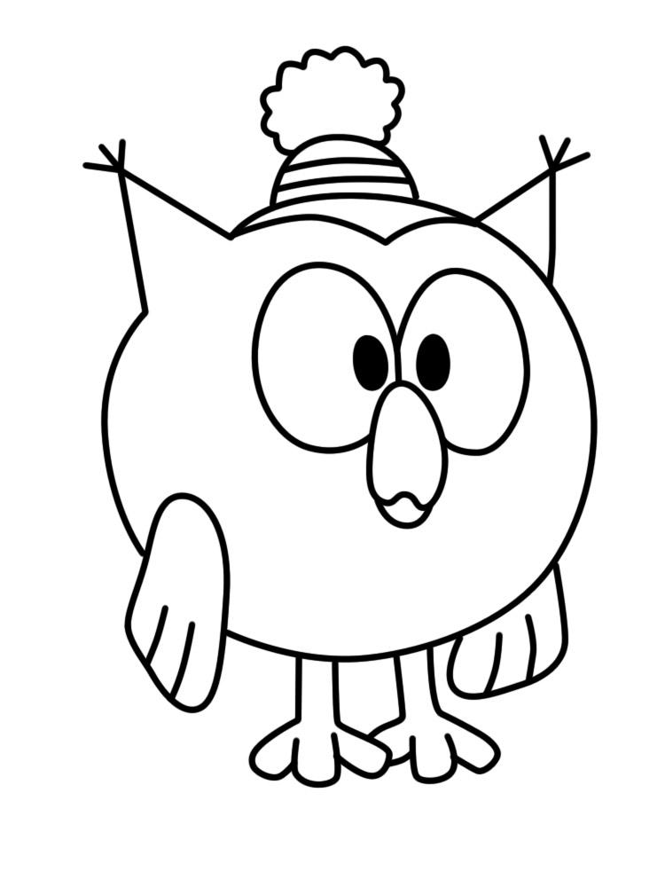 Распечатать раскраски для детского творчества смешарики совунья
