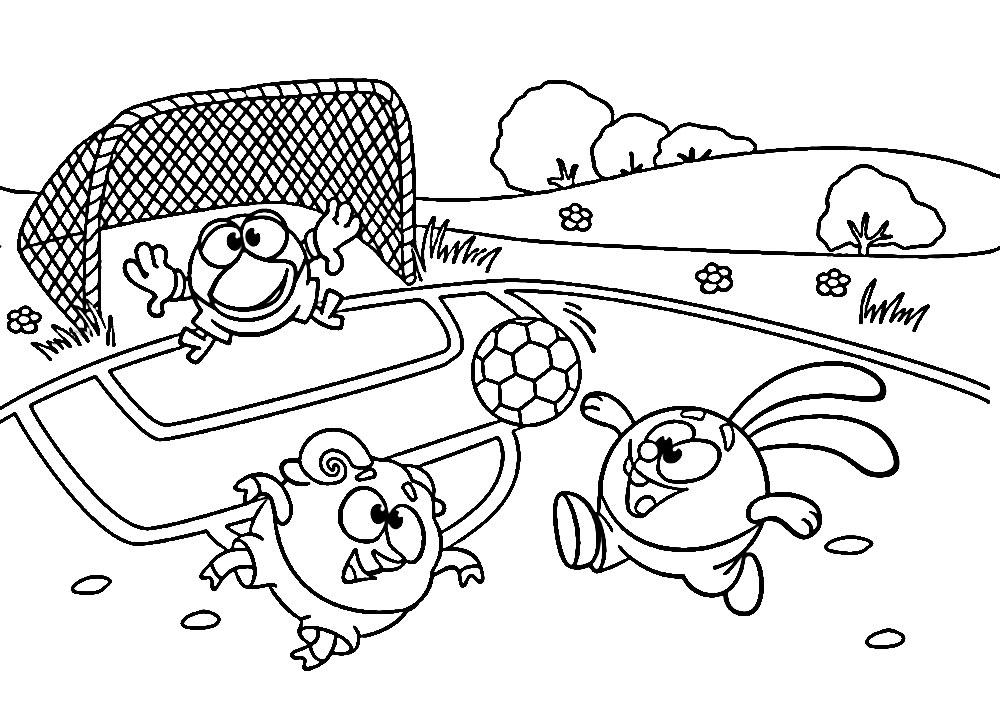 раскраски смешарики крош для детей скачать и распечатать