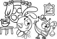 Игры-розмальовки-смешарики, раскраски крош, смешарики разукрашивать