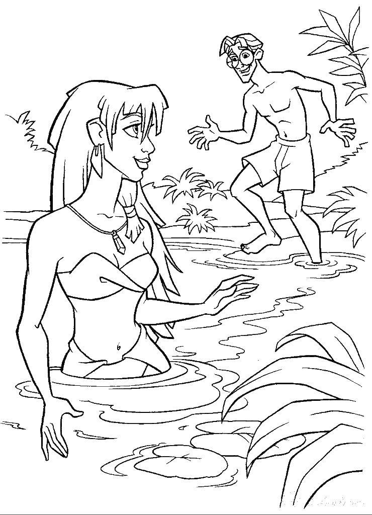 Раскраска для детей озеро