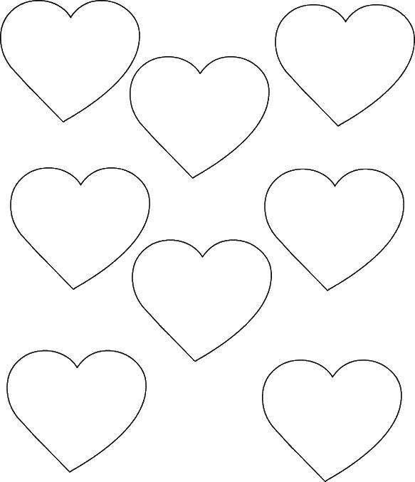 картинки сердечек для вырезания