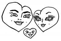 Раскраски: валентинки, сердечки