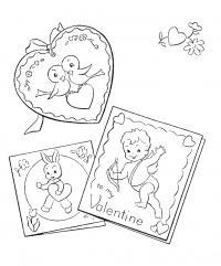 Раскраски день святого валентина день святого валентина, открытки, валентинки