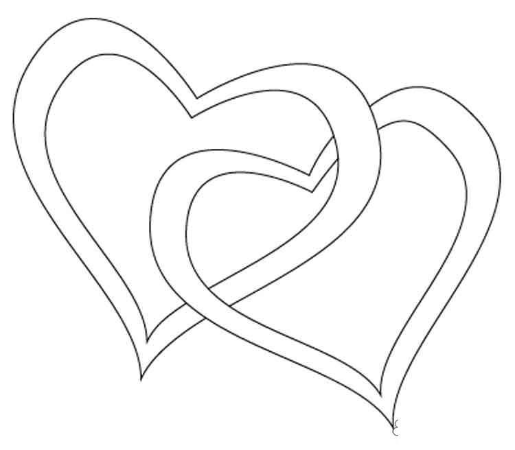 Раскраски день день святого валентина, валентинка, сердца