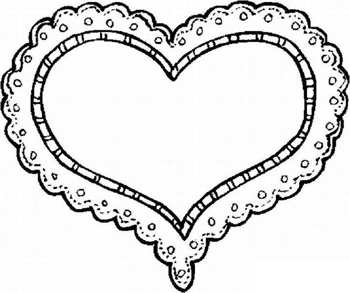Раскраски день сердце, валентинка