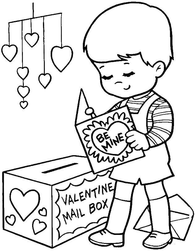 Раскраски день святого валентина день святого валентина, открытка, валентинка