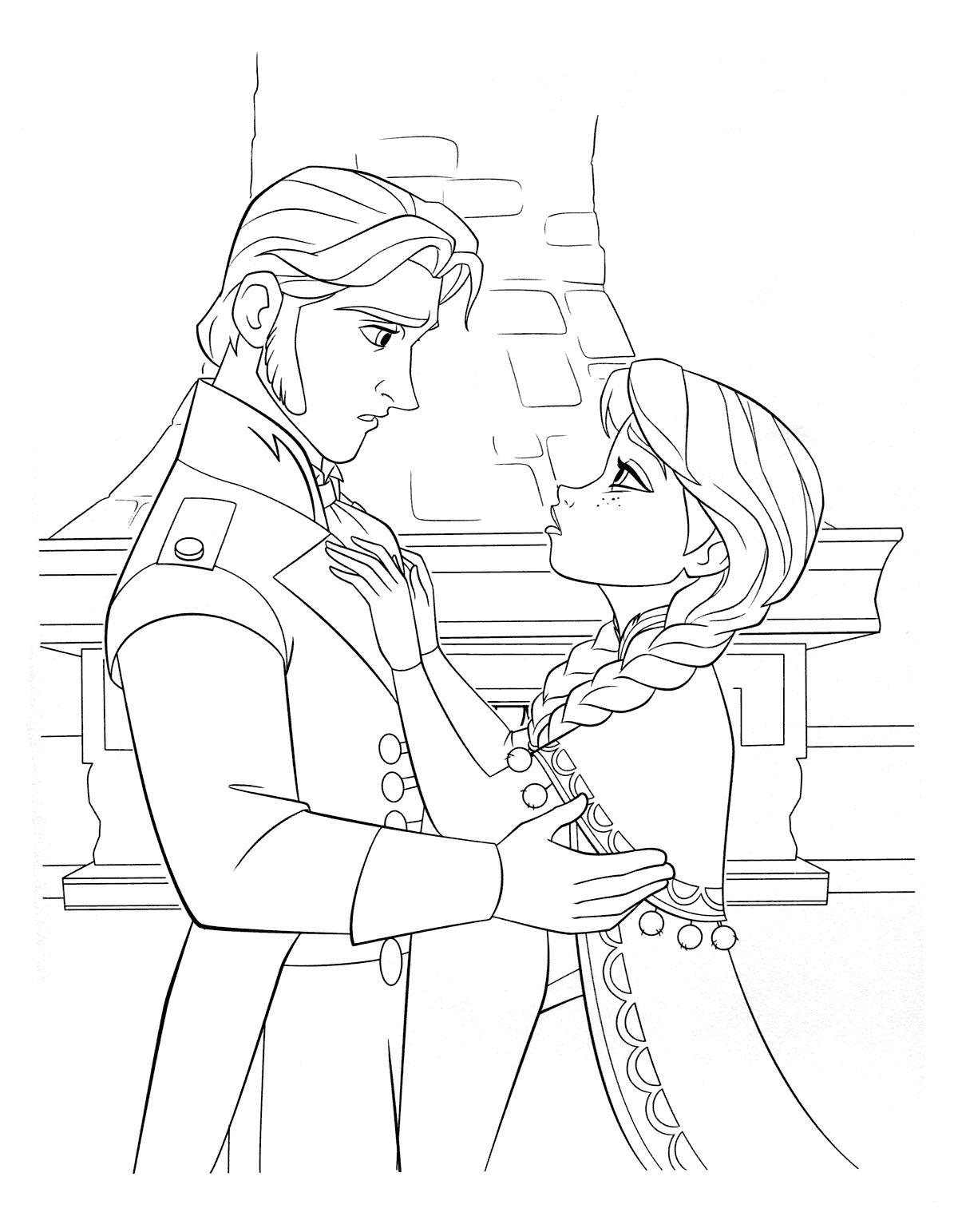 Раскраска ханс и анна. раскраска принц ганс и принцесса анна. анна просит о поцелуе, думаю что именно ганс - её истинная любовь. а он лживый и двуличный подлец.