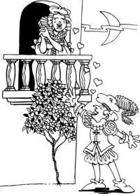 Разукрашка про любовь
