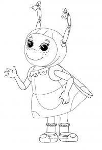 Раскраска подружка лунтика - мила. раскраска приключения лунтика и его друзей, скачать картинки из мультфильма про лунтика бесплатно