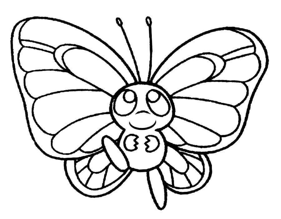 Бабочка Детские раскраски для девочек и мальчиков. Раскраски распечатать