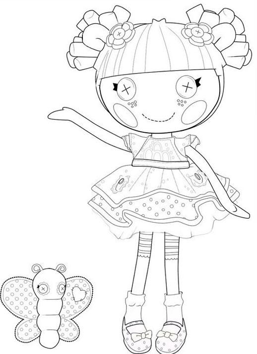 Кукла с бабочкой