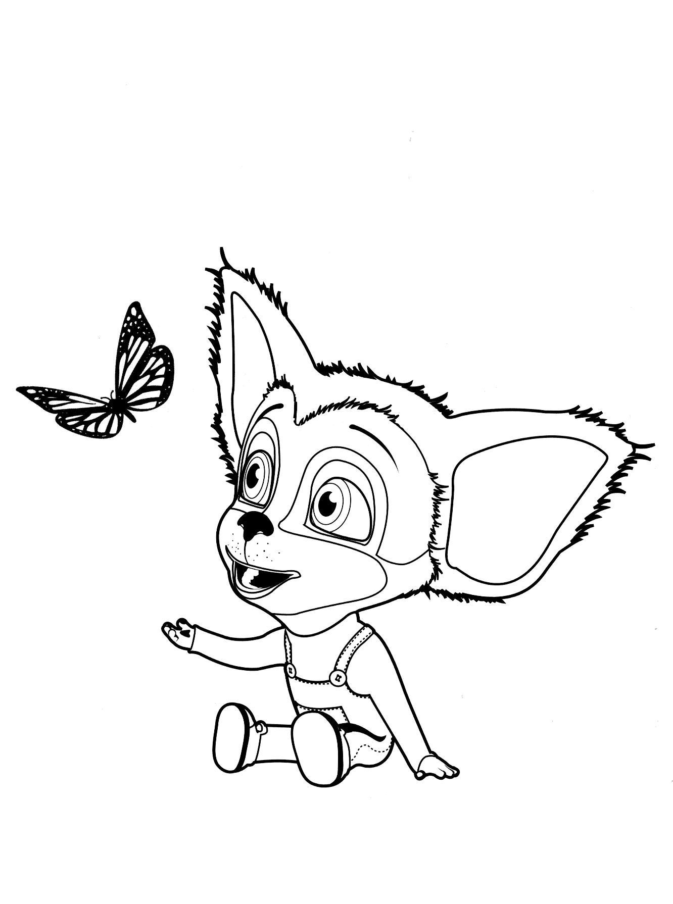 Раскраска малыш и бабочка | раскраски из мультфильма барбоскины ...