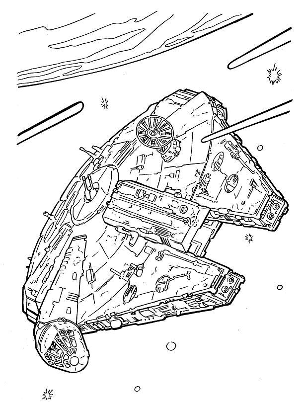 Корабль соло - сокол - раскраска из фильма: звездные войны ...
