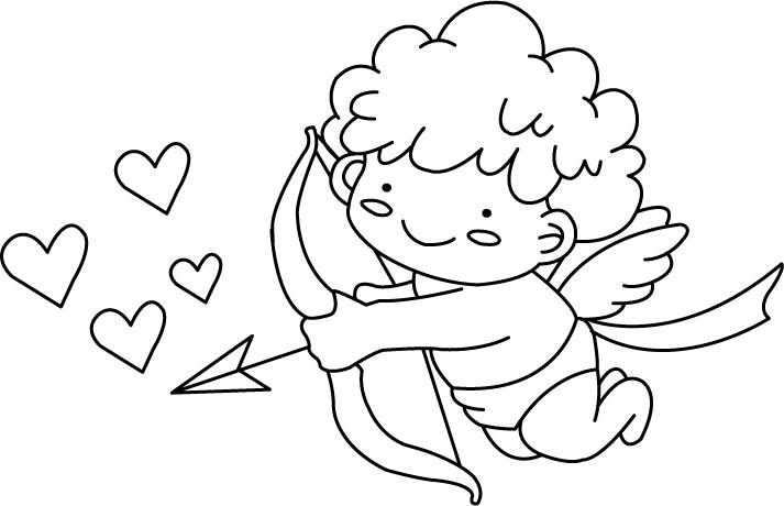 Амурчик и сердечки