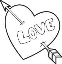 Сердце с надписью love