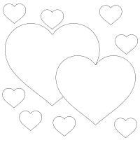 Контуры сердечек