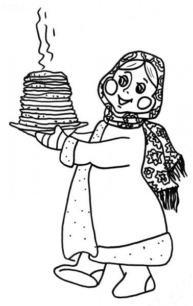 Бабушка в шарфе напекла блинов