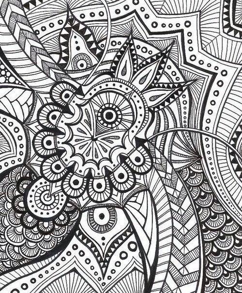 Раскраска сложный узор