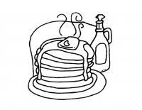 Раскраска блины на тарелке