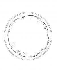 Раскраска блин на тарелке
