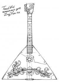 Раскраска музыкальные инструменты для детей балалайка