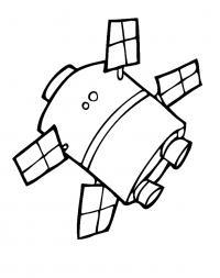 Раскраска спутник