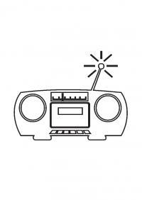 Раскраски день радио радио, антена, музыка, раскраска, касеты
