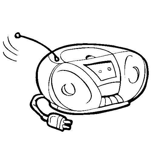 Раскраски день радио раскраски праздники, день радио, радио, магнитофон