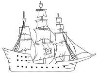 Раскраски корабли для малышей и детей дошкольного возраста