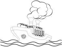 Нарисовать по точкам и раскрасить корабли