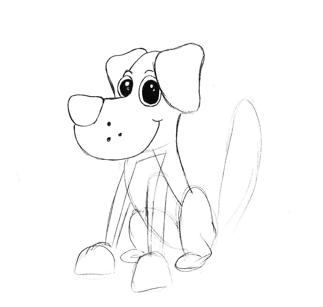 Как нарисовать собаку |