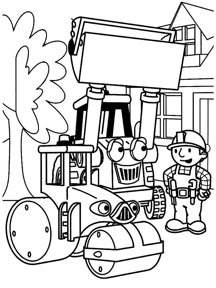 Скачать и распечатать раскраски строитель боб для детей бесплатно
